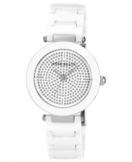 Anne Klein Watch, Womens White Ceramic Adjustable Bracelet 33mm AK