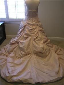 NWOT P.C.Marys Moda Bella Taffeta Wedding dress Bridal gown COGNAC