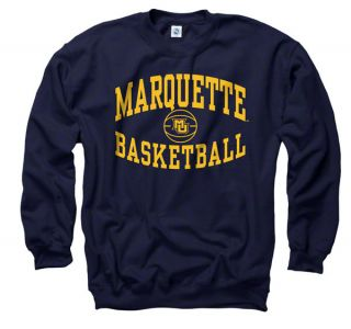 Marquette Golden Eagles Navy Reversal Basketball Crewneck Sweatshirt