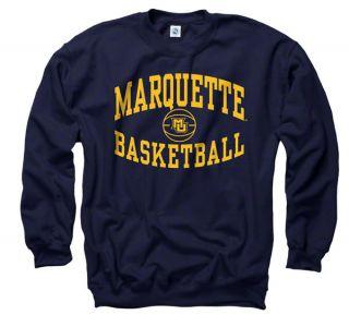 Marquette Golden Eagles Navy Reversal Basketball Crewneck Sweatshirt