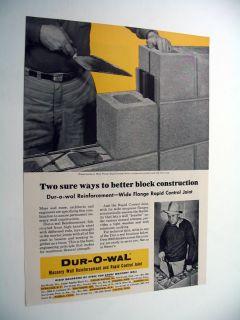Dur O Wal Rapid Control Joint Masonry Wall Trowel Ad