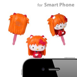 Sanrio Hello Kitty x Evangelion Earphone Jack Accessory (Asuka) for