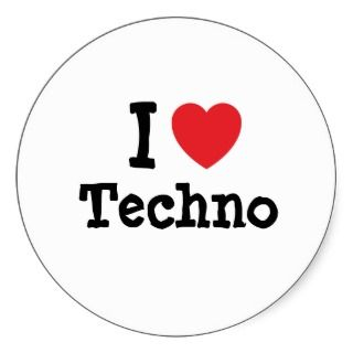love Techno heart custom personalized Stickers