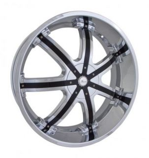 20x8 5 Et 35 Chrome Black Massa 50 Wheels Rims 5 Lug Front Wheel Drive