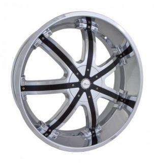 20x8 5 Et 35 Chrome Black Massa 50 Wheels Rims 5 Lug Front Wheel Drive