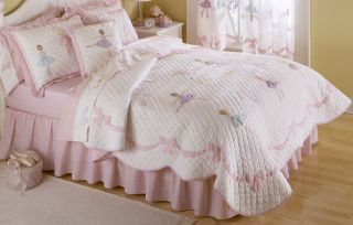 Ballet Lessons Ballerina Girls Bedding Twin Quilt Sham