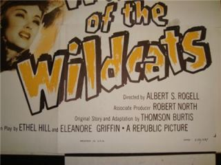 40s Original 1943 WWII Vtg John Wayne War of The Wildcats Movie Poster