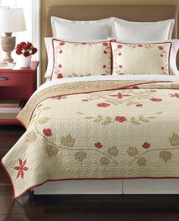 Martha Stewart Cabin Flowers Reversible Full Queen Quilt New