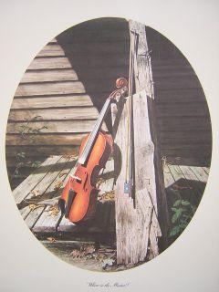 Howard Burger Where Is The Master Violin Print