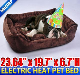 Cat Pet Electric Heat Bed Mat Pad Sleeping Warmer Indoor Heated