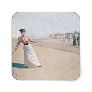 Game of Tennis by Albert Lynch 2 Sticker