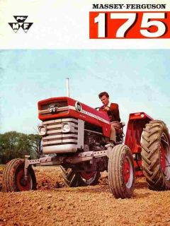 Massey Ferguson MF 175 Operations Manual for MF175 Tractor Service