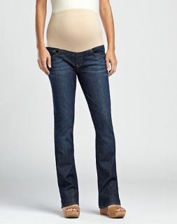 Lucky Brand Dungarees Maternity Baby Boot Stretch Dark Wash Jeans 8 29