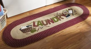 Country Laundry Room Runner Area Rug Mat Extra Long New