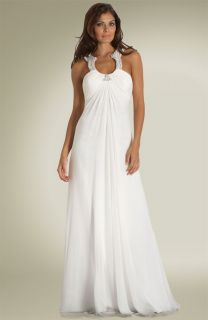 Aidan Mattox Ivory Maternity Beach Wedding Dress Gown 6