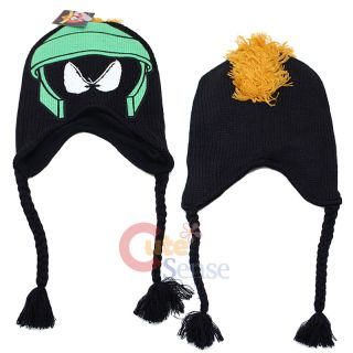 Looney Toon Marvin Lapland Hat Beanie w Ear Flap Teen Adult Custuem