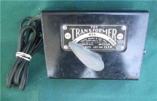 Vintage Louis Marx Trains 1559 Toy Model Train Transformer 115 Volt 60