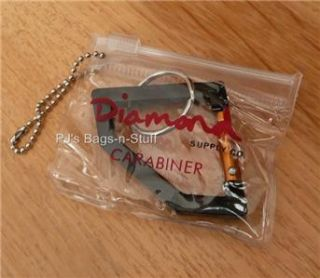 Diamond Supply Co Rock Carabiner Keychain Key Ring Black Gold New