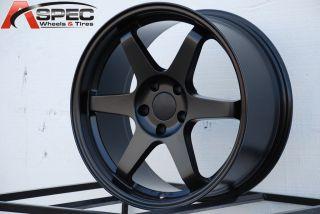 18x8 5 Varrstoen ES221 5x100 45 56 1 Matt Black Wheel Fits Scion Fr s