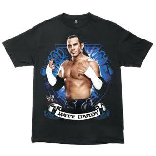 Matt Hardy Blue Pose T Shirt WWE Authentic