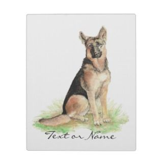 Custom Text German Shepherd Dog Pet Animal Nature Plaque