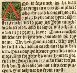 1551 Matthew Folio Black Letter Bible Leaf RARE Hand Colored Luke
