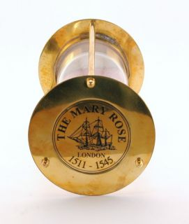 Mary Rose London Brass Sand Timer Hourglass Antique Reproduction