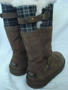 UGG Australia Maura Boots Tall Girls Chocolate US 5 Brown Sheepskin $