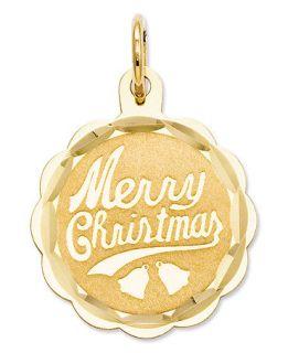 14k Gold Charm, Merry Christmas Charm   Bracelets   Jewelry & Watches