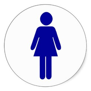 Ladies Restroom or Bathroom Sign Sticker