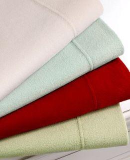 Martha Stewart Collection Bedding, Microfleece Queen Sheet Set