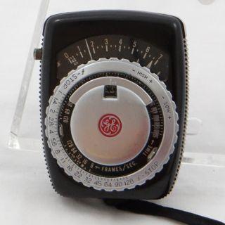 General Electric GE Light Exposure Meter Type PR 1 Brown Leather Case