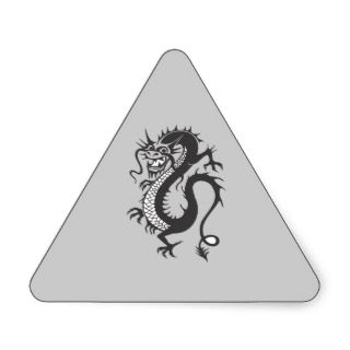 Dragon Tattoo Fantasy Fiction Drawing Cartoon Art Sticker