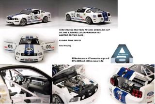18 Autoart 2005 Mustang Grand Am White Ford Racing Fr 500C