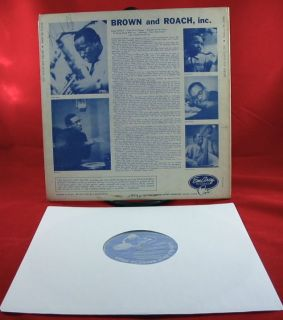Clifford Brown Max Roach Incorporated LP Emarcy DG Mono Drummer Orig