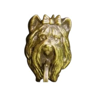 Mayer Mill Brass Decorative Polished Antique Yorkie Door Knocker
