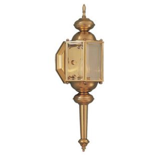 Maxim 3293CLPB Polished Brass Williamsburg 1 Light Outdoor Wall