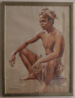 Mayr 1882 1974 Balinese Man 1932 Signed