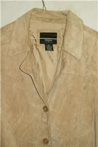 Massimo Pigskin Suede Leather Jacket Womens XLarge