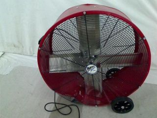 Maxxair BF30DD 30 inch Direct Drive Commercial Fan Red