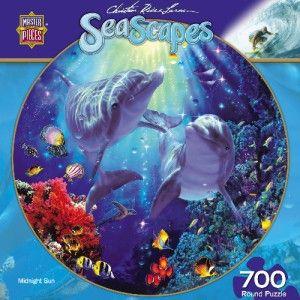 Masterpieces Christian Riese Lassen Midnight Sun Dolphins Jigsaw