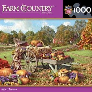 Masterpieces Farm Country Autumn Treasures Jigsaw Puzzle 1000 PC