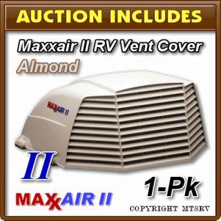Maxxair II RV Vent Cover Almond Shell White 1 Pack Brand New Max Air 2