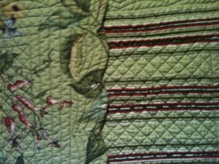 VICTORIAN PRIMITIVE REVERSIBLE 51 QUILTED Table Runner SCARF MAGNOLIA