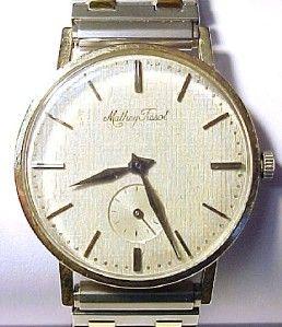 Mathey Tissot Vintage Solid 18K Gold Mens Wristwatch