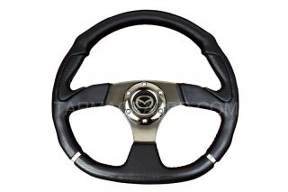 D1 SPORTS STEERING WHEEL MAZDA 323f 626 MX3 MX5 MX6 RX7 BONGO boss kit