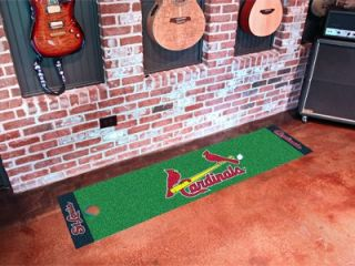 St Louis Cardinals Golf Putting Green Runner Floor Mat