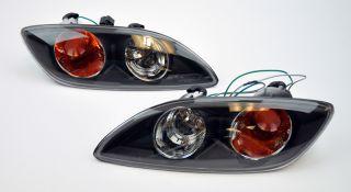 Mazda RX7 93 02 JDM Front Bumper Indicator Lights Black w Amber
