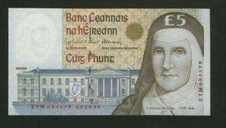 pounds UNC EIRE Ireland (Rep of) Mcauley 15 10 99 P75 Irish 1st of 3