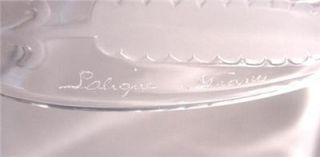 Pair of Lalique France Jaffa Pattern Crescent Salad Plates